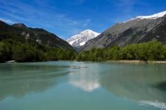 Monte Bianco al pomeriggio visto dalla Riserva naturale del Marais